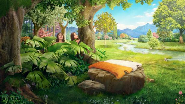 Ο Θεός κατασκευάζει δερμάτινους χιτώνες για τον Αδάμ και την Εύα