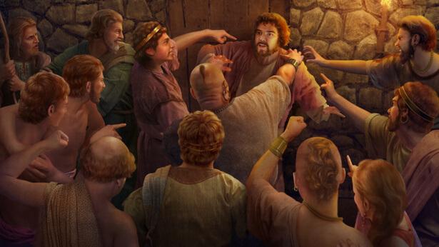 Τα Σόδομα οδηγούνται στην καταστροφή επειδή ύβρισαν την οργή του Θεού