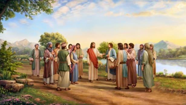 Ο Κύριος Ιησούς και οι μαθητές